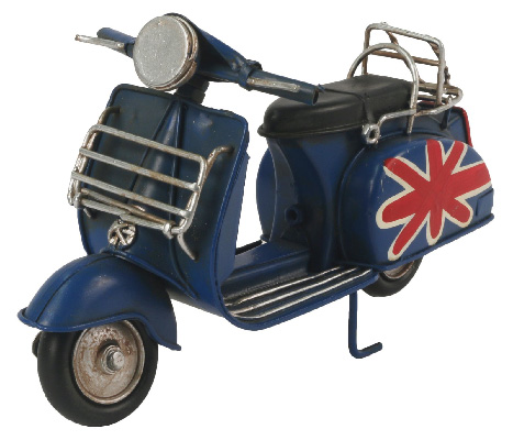Repro Dark Scooter With Union Jack