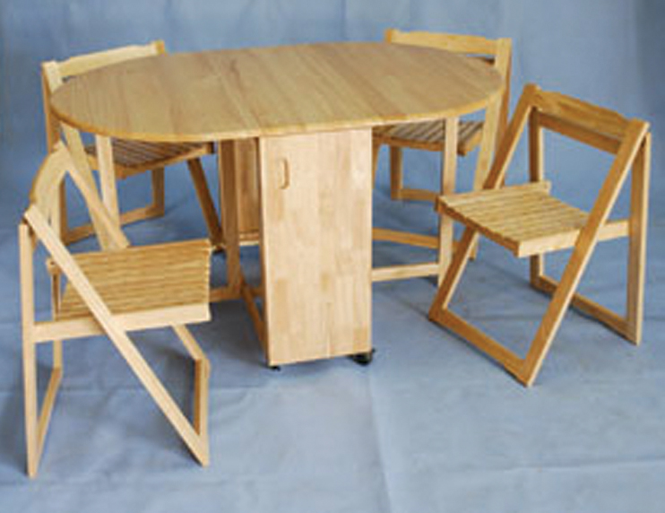 Dining table fold away dining table and chairs - Fold up dining tables ...