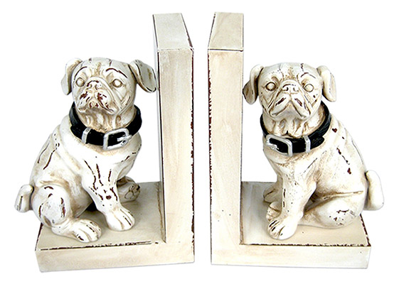 Resin Dog Bookends