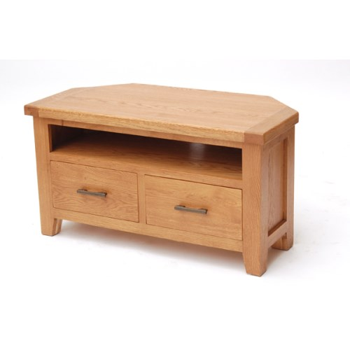 Hamshire Solid Oak Corner Tv Unit