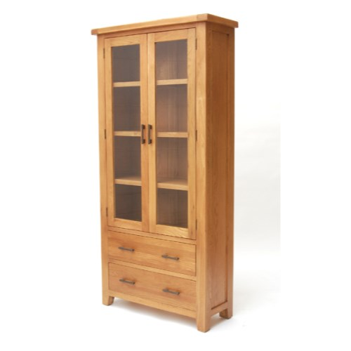 Hampshire Range Solid Oak Display Cabinet