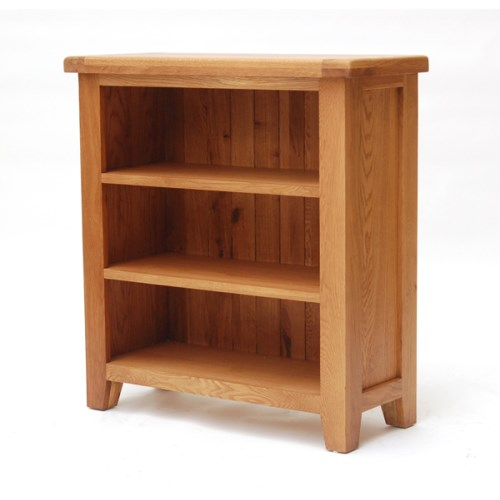 Hampshire Range Solid Oak Low Bookcase