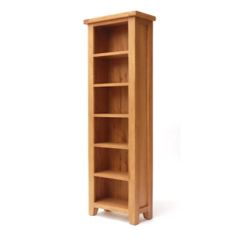 Hampshire Solid Oak Slim Bookcase
