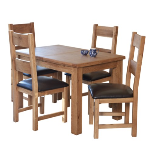 Hampshire Range Solid Oak Ext Table & 4 Chairs