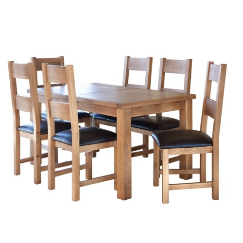 Hampshire Range Solid Oak Large ext Table & 6 chairs