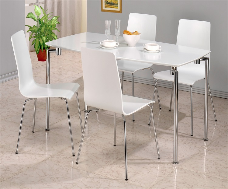 Fiji Black or White Gloss Table & 4 Chairs
