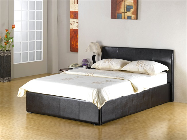 Fusion Black / Brown or White pu Storage Beds From