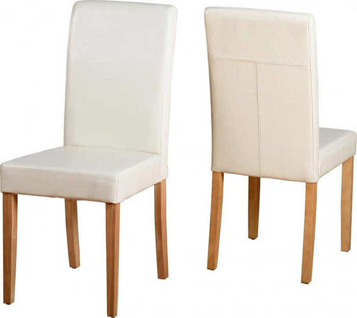 G3 Chair in Cream Faux Leather