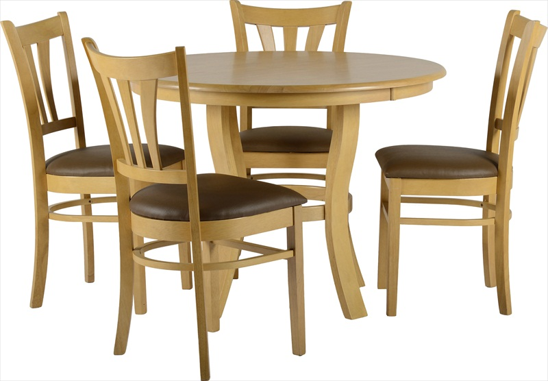 "GROVENOR 40"" ROUND TABLE & 4 CHAIRS"