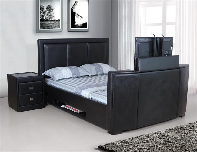Galactic Black or Brown pu Tv bed From