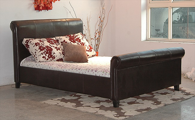 "Henley 4'6"" High End Brown & Black pu Bedstead From"