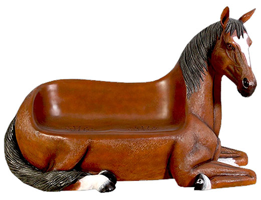 Resin Horse Seat Outdoor