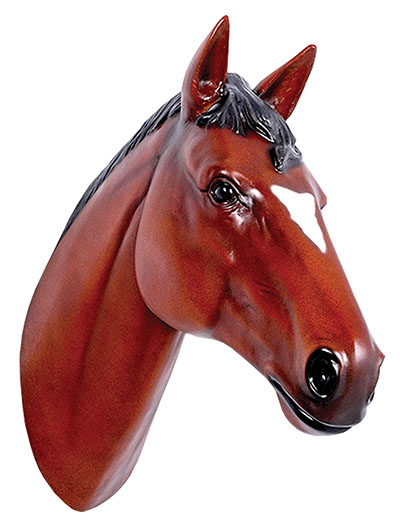 Resin Horse Head Chestnut
