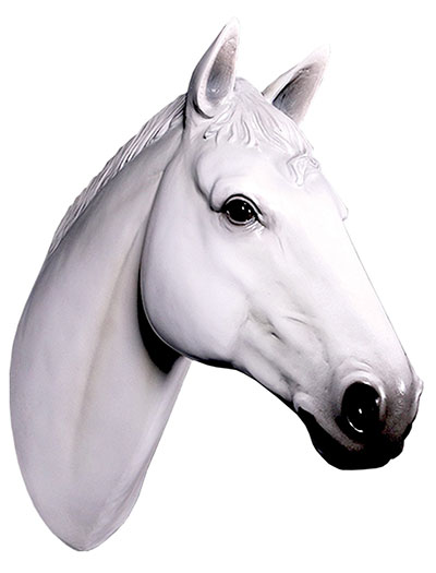 Resin Horse Head White