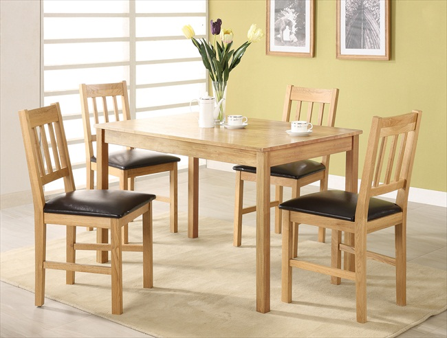 HYDE SOLID OAK TABLE & 4 CHAIRS