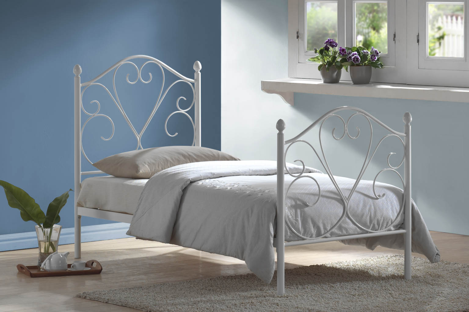 Isabelle White 3' Bedstead