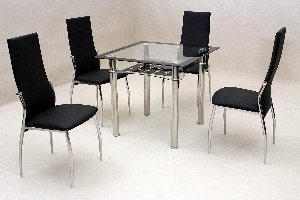 Jazo black Four Chair Dining Set