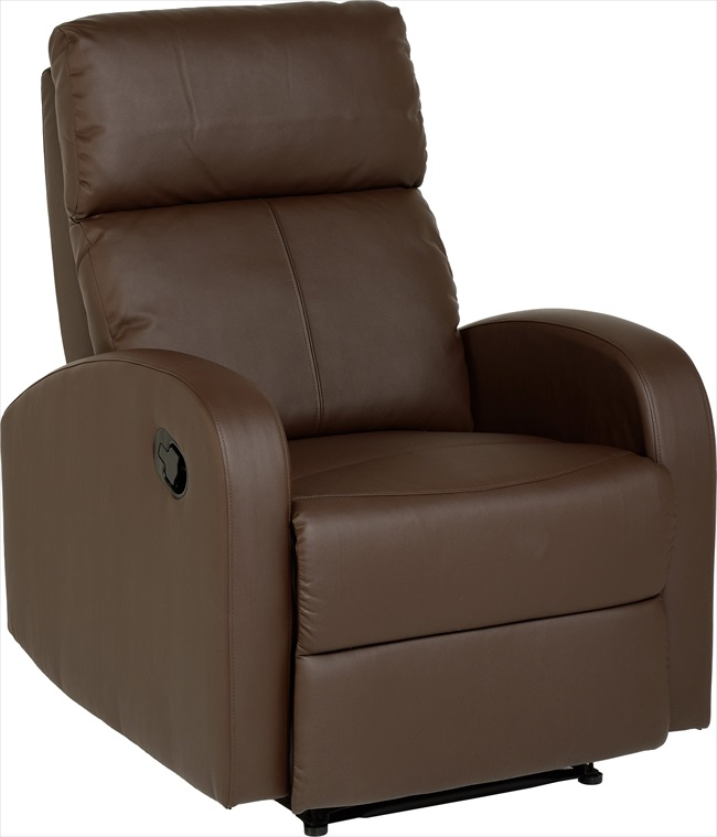 Lauren Brown pvc Recliner Chair