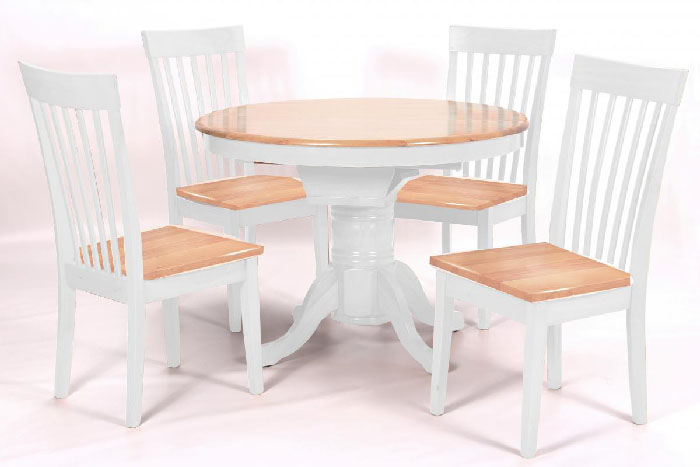 Leicester Extending Dining Set White