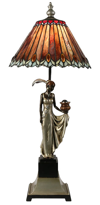 Lady Tiffany Style Shade Lamp