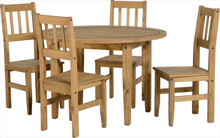 Mexican Round Table & 4 Chairs