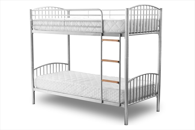 Montreal White / Black or Silver Bunk Beds