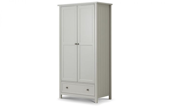 Maine 2 Door Combination Wardrobe Dove Grey Finish