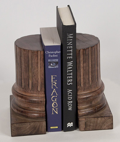 Mango Wood Pillar Bookends