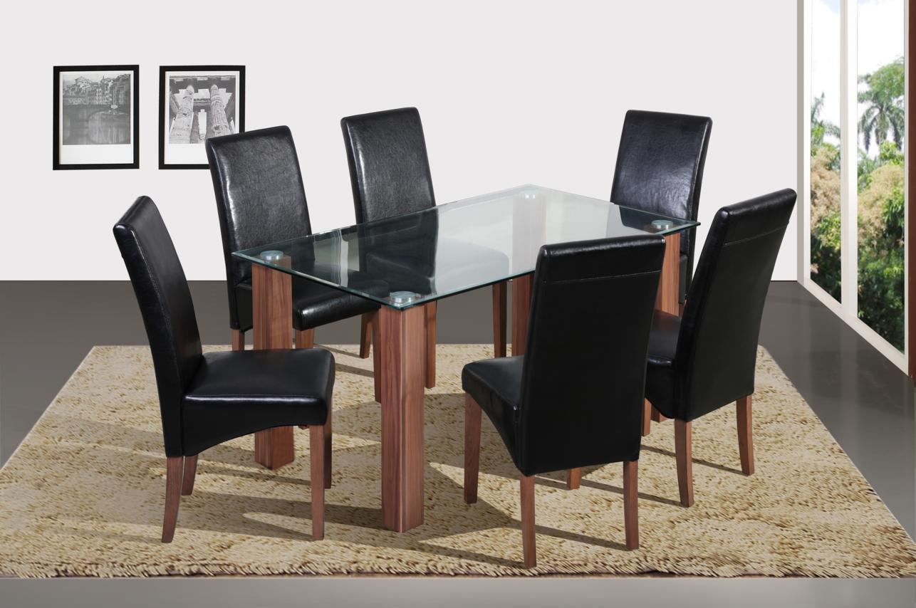 Mirage Table & 6 Chairs
