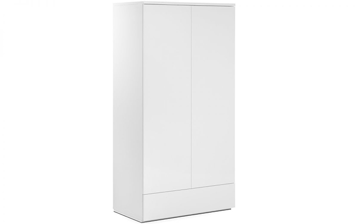 Monaco 2 Door Combination Wardrobe White High Gloss