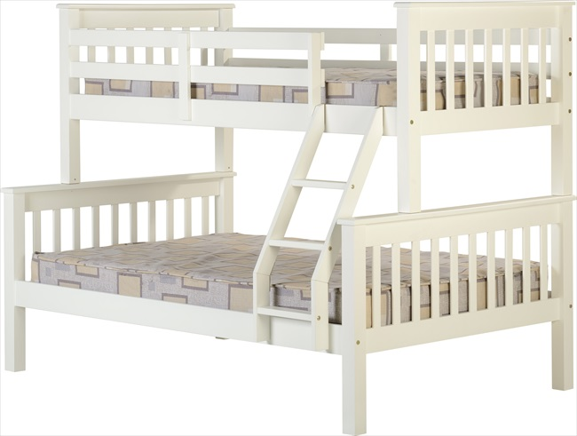 Neptune White or Pine Triple Sleeper From