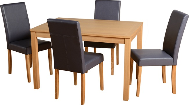 OAKMERE TABLE & 4 CHAIRS