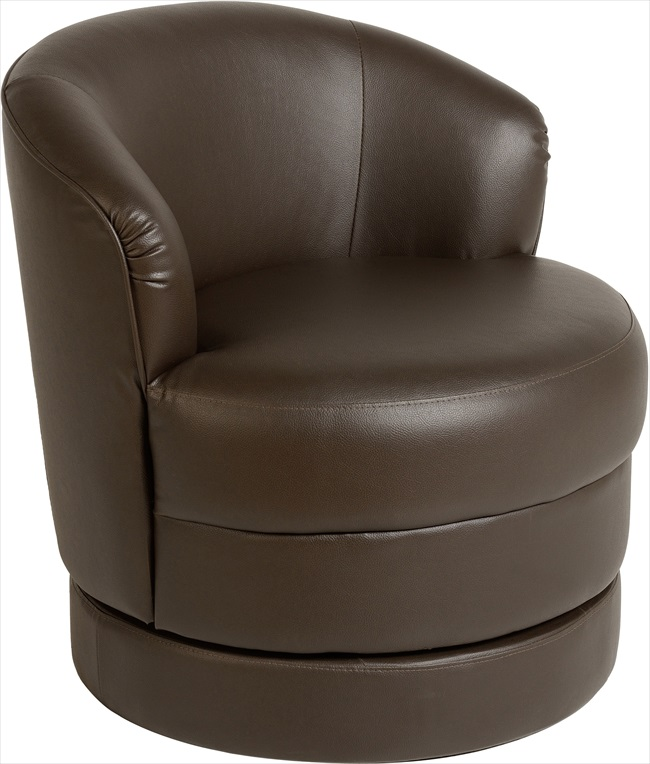 Oscar Swival Mocca Brown pvc Tub Chair