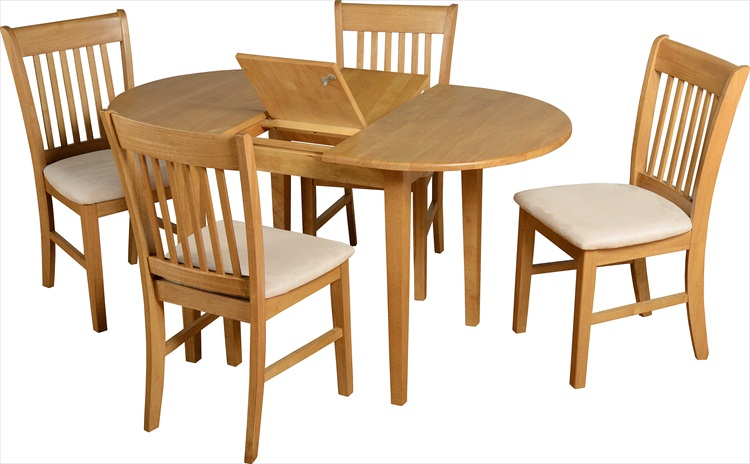Oxford Extending Natural Oak Finish Table & 4 Chairs