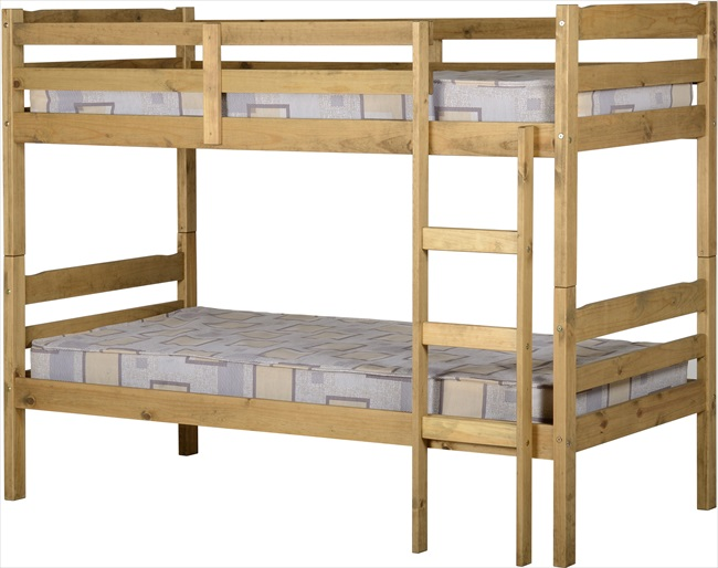 Panama Natural Wax 3' Bunk Beds