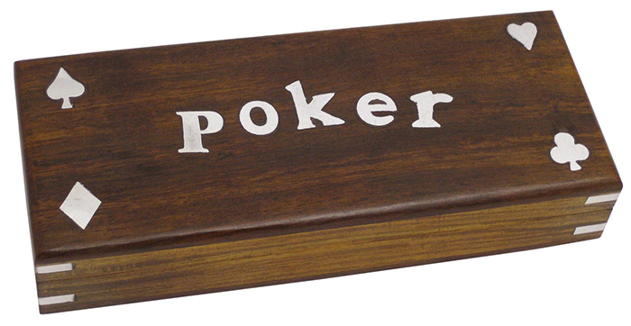 Poker Box With Cards (Pack Of Two) - Click Image to Close