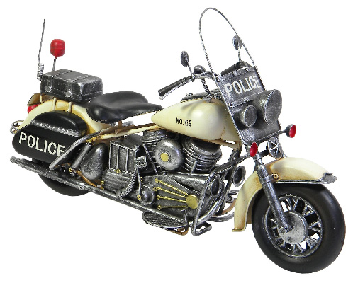 Repro Tin Police Motorcycle