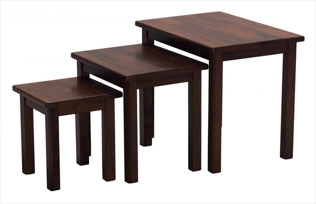 Portma Nest Of Tables Mahogany