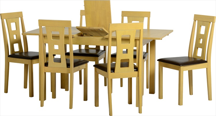 Rowan Oak Veneer Extending Table & 6 Chairs