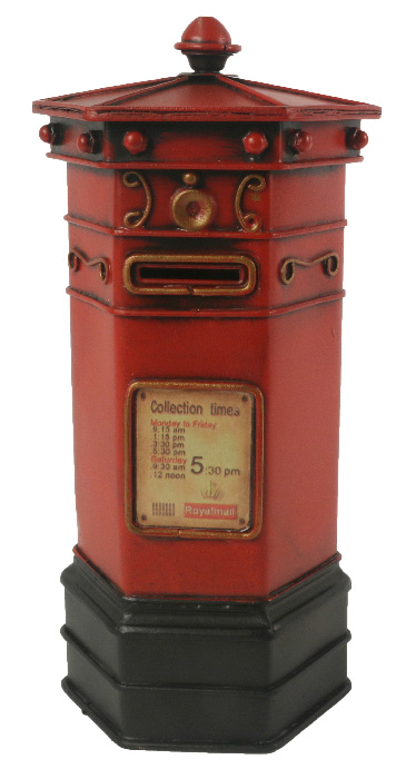Repro Tin Red Post Box 29CM Money Box
