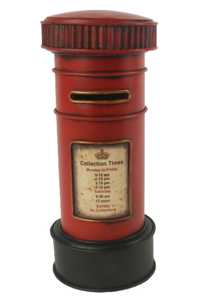 Repro Tin Red Post Box 27CM Money Box