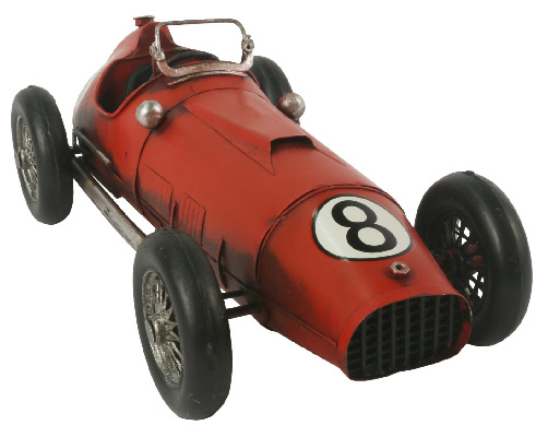 Repro Tin Red Racing Car