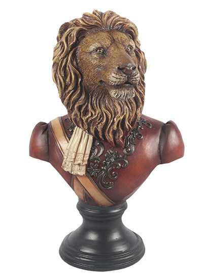Resin lion Bust