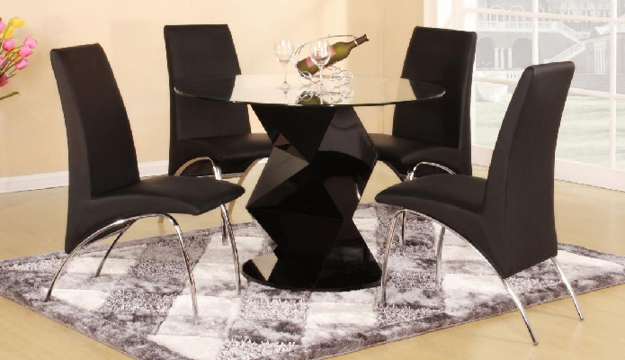 Rowley Black Dining Set