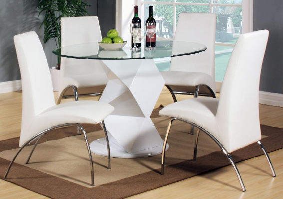 Rowley White Dining Set