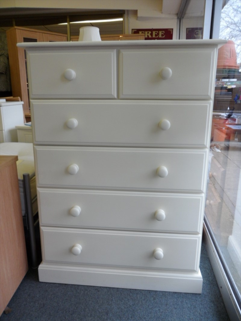 TBS Range Painted Solid Pine 4+2 Chest