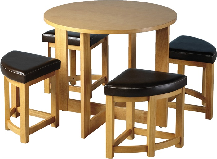SHERWOOD STOWAWAY TABLE & 4 STOOLS