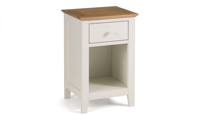 Salerno 1 Drawer Bedside Two Tone
