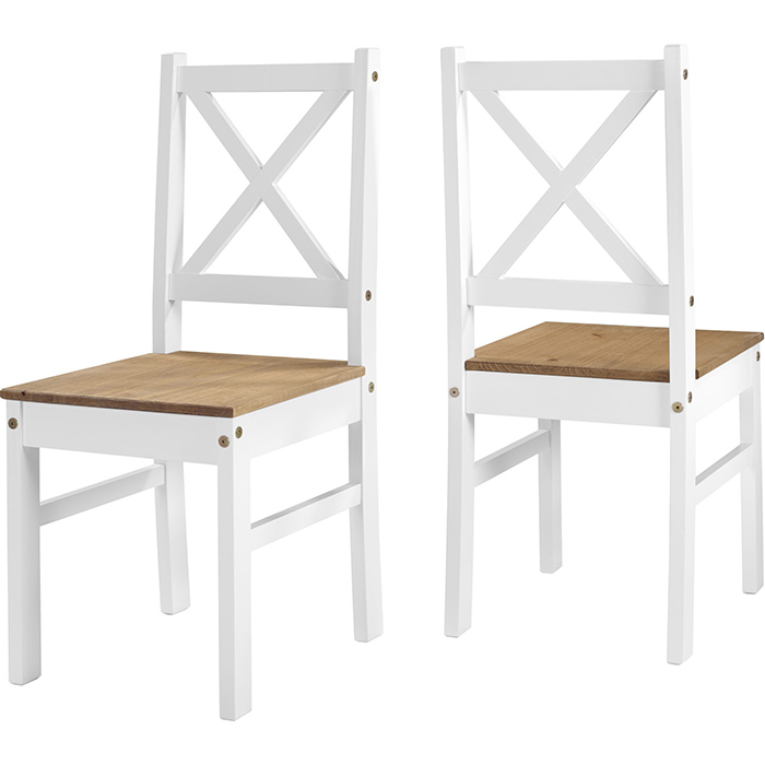 Salvador Chair In White & Distressed Waxed Pine
