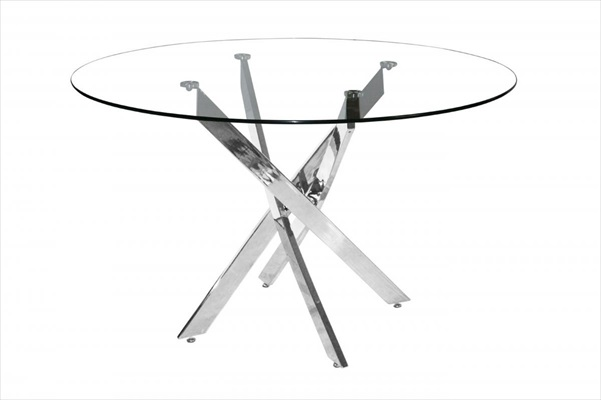 Samurai Clear glass Round table